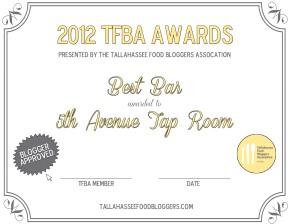 2013 TFBA Award Winners: Best Appetizer to BestHamburger